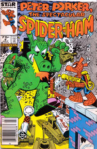 Cover Thumbnail for Peter Porker, the Spectacular Spider-Ham (Marvel, 1985 series) #8 [Newsstand]
