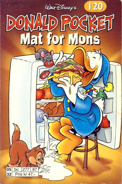 Cover for Donald Pocket (Hjemmet / Egmont, 1968 series) #120 - Donald Duck Mat for mons [1. opplag]