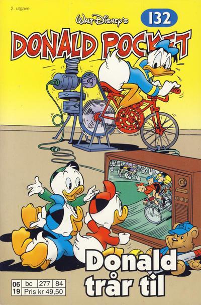 Cover for Donald Pocket (Hjemmet / Egmont, 1968 series) #132 - Donald trår til [2. utgave bc 277 84]