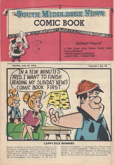 Cover for The South Middlesex News Comic Book (The Middlesex News, 1978 series) #v1#18