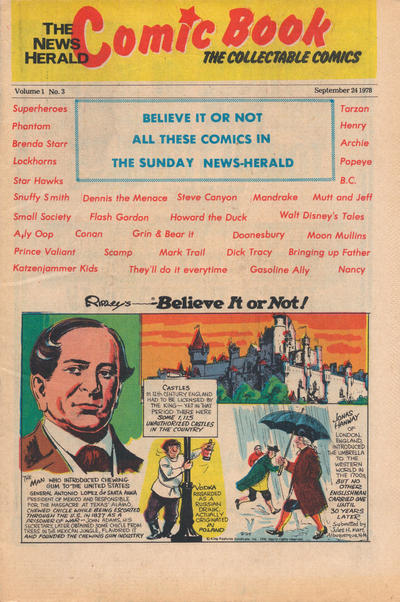 Cover for The News Herald Comic Book the Collectable Comics (Lake County News Herald, 1978 series) #3