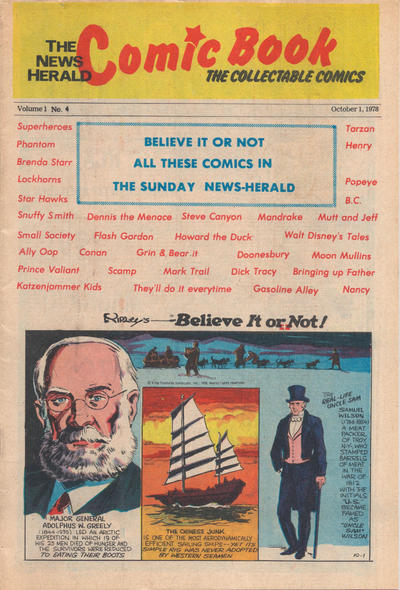 Cover for The News Herald Comic Book the Collectable Comics (Lake County News Herald, 1978 series) #4