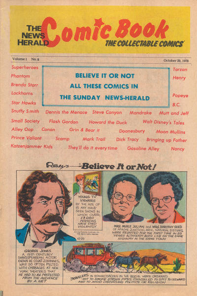 Cover for The News Herald Comic Book the Collectable Comics (Lake County News Herald, 1978 series) #8