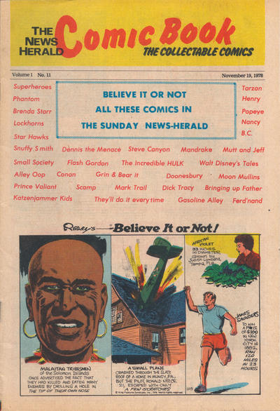 Cover for The News Herald Comic Book the Collectable Comics (Lake County News Herald, 1978 series) #11