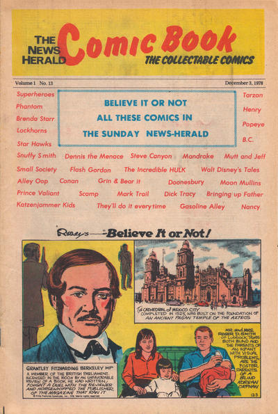 Cover for The News Herald Comic Book the Collectable Comics (Lake County News Herald, 1978 series) #13