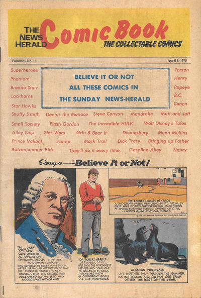 Cover for The News Herald Comic Book the Collectable Comics (Lake County News Herald, 1978 series) #v2#13