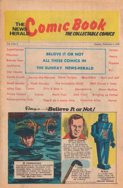 Cover for The News Herald Comic Book the Collectable Comics (Lake County News Herald, 1978 series) #v2#5