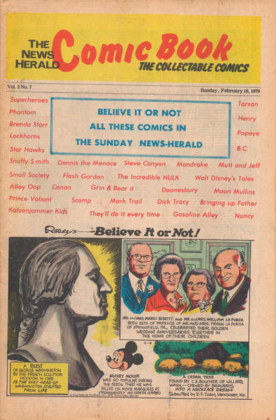 Cover for The News Herald Comic Book the Collectable Comics (Lake County News Herald, 1978 series) #v2#7