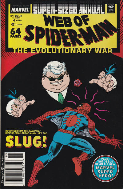Cover for Web of Spider-Man Annual (Marvel, 1985 series) #4 [Direct]