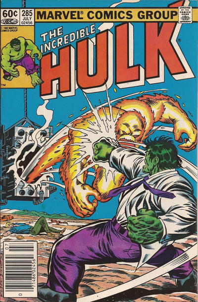 Cover for The Incredible Hulk (Marvel, 1968 series) #285 [Direct]