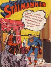 Cover Thumbnail for Stålmannen (Centerförlaget, 1949 series) #3/1949