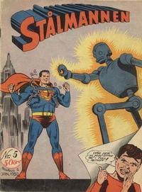 Cover Thumbnail for Stålmannen (Centerförlaget, 1949 series) #5/1950