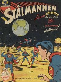 Cover Thumbnail for Stålmannen (Centerförlaget, 1949 series) #6/1950