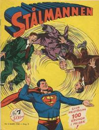 Cover Thumbnail for Stålmannen (Centerförlaget, 1949 series) #7/1950