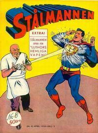 Cover Thumbnail for Stålmannen (Centerförlaget, 1949 series) #8/1950
