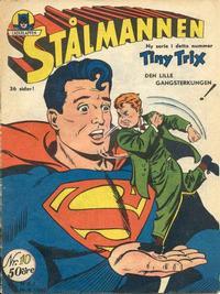 Cover Thumbnail for Stålmannen (Centerförlaget, 1949 series) #10/1950