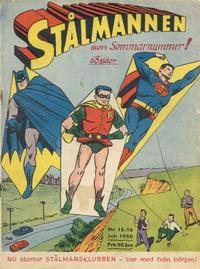 Cover Thumbnail for Stålmannen (Centerförlaget, 1949 series) #15-16/1950