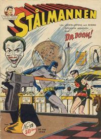 Cover Thumbnail for Stålmannen (Centerförlaget, 1949 series) #19/1950