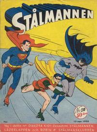 Cover Thumbnail for Stålmannen (Centerförlaget, 1949 series) #20/1950