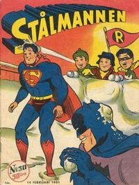 Cover Thumbnail for Stålmannen (Centerförlaget, 1949 series) #30/1951