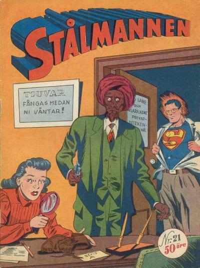 Cover for Stålmannen (Centerförlaget, 1949 series) #21/[1950]