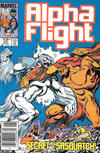 Cover Thumbnail for Alpha Flight (1983 series) #23 [Canadian Newsstand Edition]