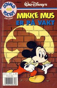 Cover Thumbnail for Donald Pocket (Hjemmet / Egmont, 1968 series) #48 - Mikke Mus er på vakt [3. utgave bc-F 670 38]
