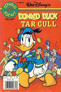 Cover Thumbnail for Donald Pocket (Hjemmet / Egmont, 1968 series) #47 - Donald Duck tar gull [3. utgave bc-F 670 38]