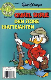 Cover Thumbnail for Donald Pocket (Hjemmet / Egmont, 1968 series) #43 - Onkel Skrue Den store skattejakten [3. utgave bc-F 670 38]