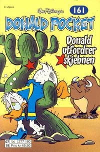 Cover Thumbnail for Donald Pocket (Hjemmet / Egmont, 1968 series) #161 - Donald utfordrer skjebnen [2. utgave bc 277 80]
