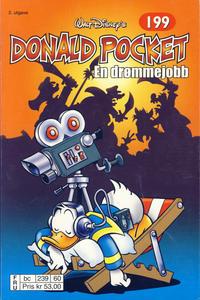 Cover Thumbnail for Donald Pocket (Hjemmet / Egmont, 1968 series) #199 - En drømmejobb [2. utgave bc 239 60]
