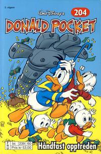 Cover Thumbnail for Donald Pocket (Hjemmet / Egmont, 1968 series) #204 - Håndfast opptreden [2. utgave bc 239 60]
