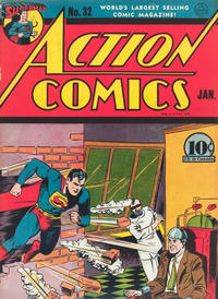 Cover Thumbnail for Action Comics (DC, 1938 series) #32 [With Canadian Price]