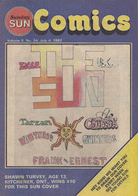 Cover Thumbnail for Sunday Sun Comics (Toronto Sun, 1977 series) #v5#34