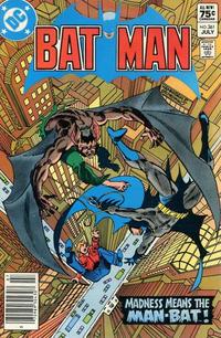 Cover for Batman (DC, 1940 series) #361 [Newsstand]