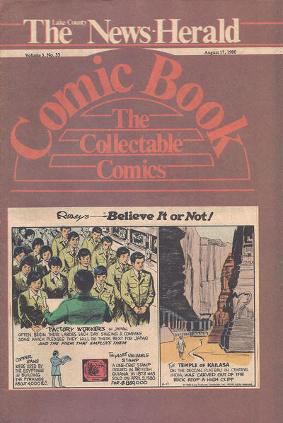 Cover for The News Herald Comic Book the Collectable Comics (Lake County News Herald, 1978 series) #v3#33