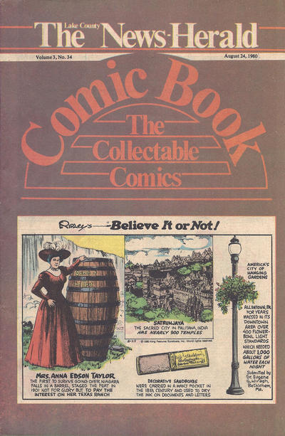 Cover for The News Herald Comic Book the Collectable Comics (Lake County News Herald, 1978 series) #v3#34