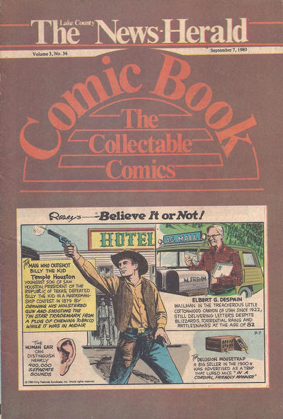 Cover for The News Herald Comic Book the Collectable Comics (Lake County News Herald, 1978 series) #v3#36