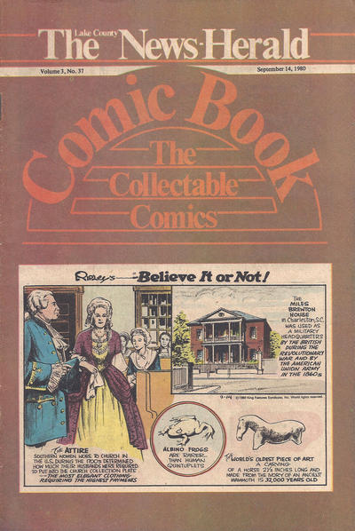 Cover for The News Herald Comic Book the Collectable Comics (Lake County News Herald, 1978 series) #v3#37