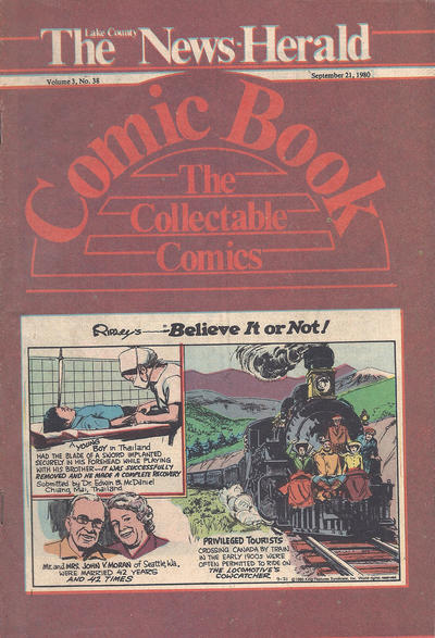 Cover for The News Herald Comic Book the Collectable Comics (Lake County News Herald, 1978 series) #v3#38