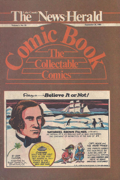 Cover for The News Herald Comic Book the Collectable Comics (Lake County News Herald, 1978 series) #v3#39