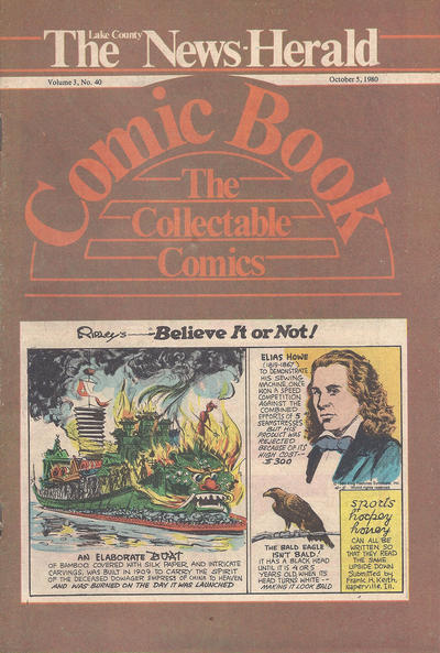 Cover for The News Herald Comic Book the Collectable Comics (Lake County News Herald, 1978 series) #v3#40