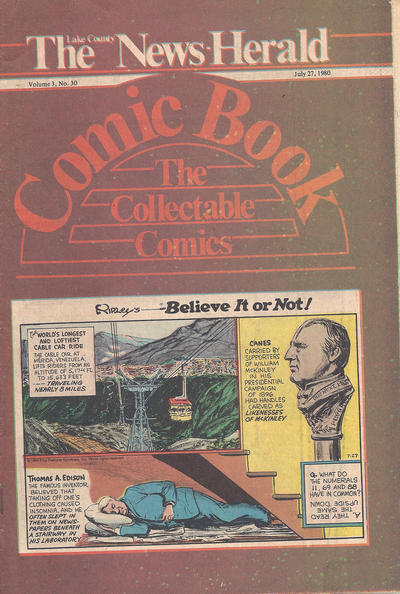 Cover for The News Herald Comic Book the Collectable Comics (Lake County News Herald, 1978 series) #v3#30