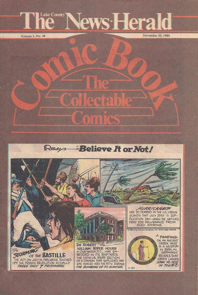 Cover for The News Herald Comic Book the Collectable Comics (Lake County News Herald, 1978 series) #v3#48
