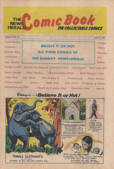 Cover for The News Herald Comic Book the Collectable Comics (Lake County News Herald, 1978 series) #v2#14