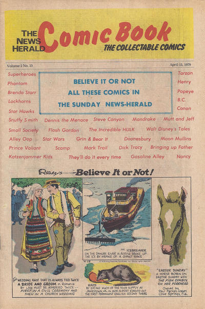 Cover for The News Herald Comic Book the Collectable Comics (Lake County News Herald, 1978 series) #v2#15