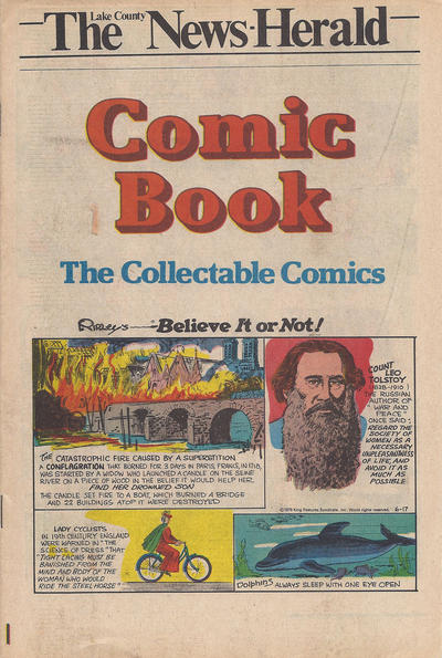 Cover for The News Herald Comic Book the Collectable Comics (Lake County News Herald, 1978 series) #v2#24