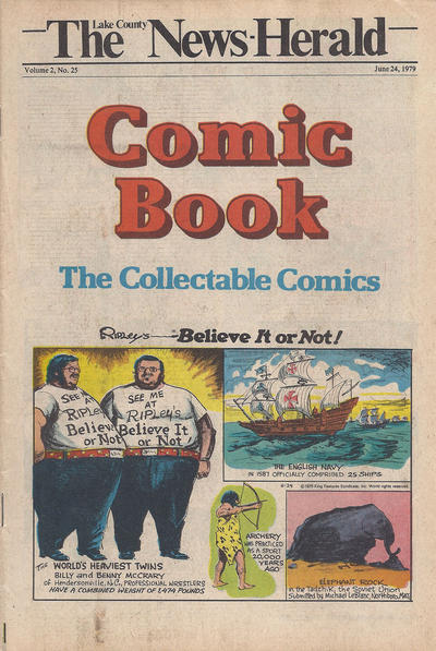 Cover for The News Herald Comic Book the Collectable Comics (Lake County News Herald, 1978 series) #v2#25