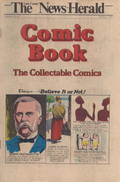 Cover for The News Herald Comic Book the Collectable Comics (Lake County News Herald, 1978 series) #v2#40