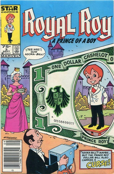 Cover for Royal Roy (Marvel, 1985 series) #3 [Direct]